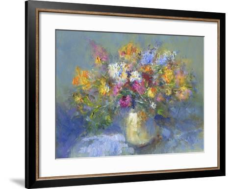 Painted Vase of Flowers-toitoitoi-Framed Art Print