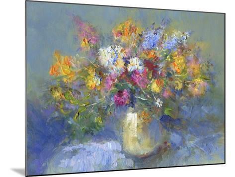 Painted Vase of Flowers-toitoitoi-Mounted Art Print