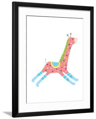 The View of Giraffe-eastnine-Framed Art Print