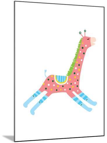 The View of Giraffe-eastnine-Mounted Art Print