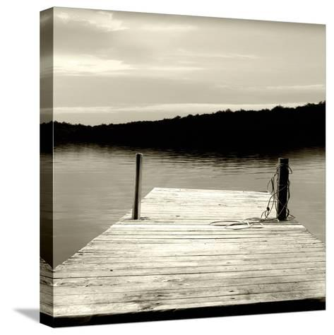 Twilight Dock III--Stretched Canvas Print