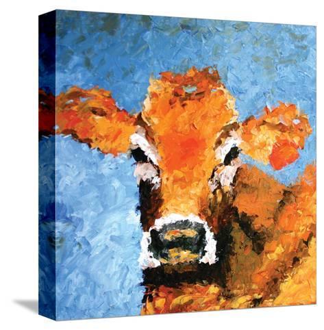 Cow-Leslie Saeta-Stretched Canvas Print