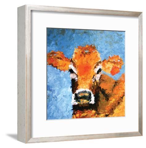 Cow-Leslie Saeta-Framed Art Print