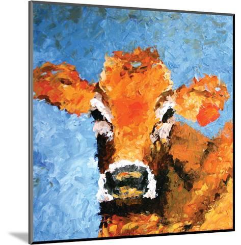 Cow-Leslie Saeta-Mounted Art Print