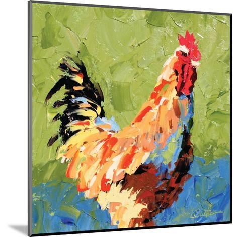 Rooster II-Leslie Saeta-Mounted Art Print