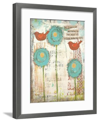 Singing Birds-Cassandra Cushman-Framed Art Print