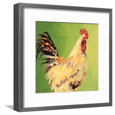 Fall Rooster-Leslie Saeta-Framed Art Print