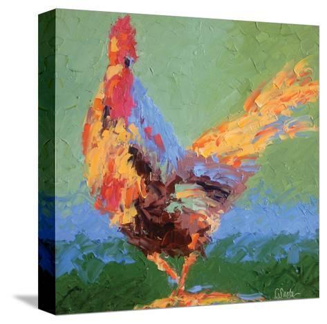 Rooster V-Leslie Saeta-Stretched Canvas Print