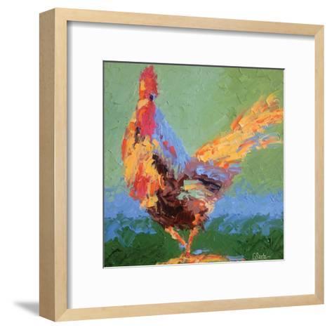 Rooster V-Leslie Saeta-Framed Art Print