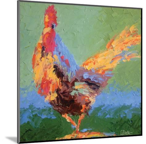 Rooster V-Leslie Saeta-Mounted Art Print