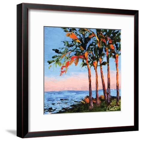 Hawaii Shores-Leslie Saeta-Framed Art Print