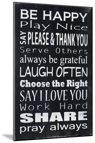Be Happy-Holly Stadler-Mounted Art Print