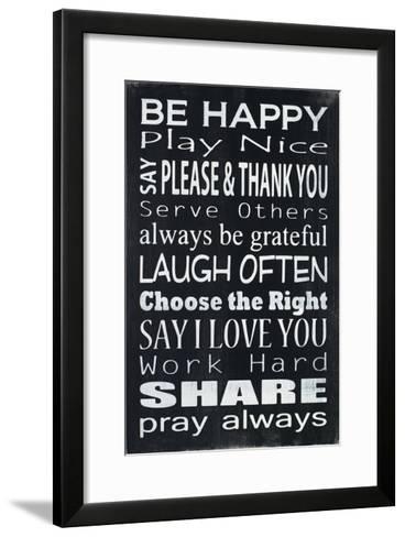 Be Happy-Holly Stadler-Framed Art Print