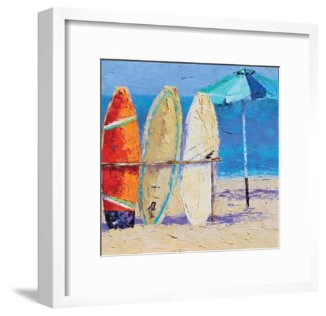 Resting on the Beach II-Leslie Saeta-Framed Art Print