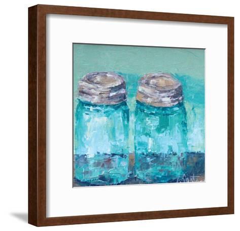 Two Blue Jars-Leslie Saeta-Framed Art Print