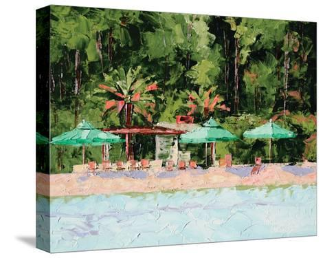 The Beach Club-Leslie Saeta-Stretched Canvas Print