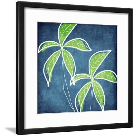 Palm Trees-Linda Woods-Framed Art Print