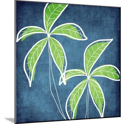 Palm Trees-Linda Woods-Mounted Art Print