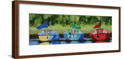 Three on the Bay-Leslie Saeta-Framed Art Print