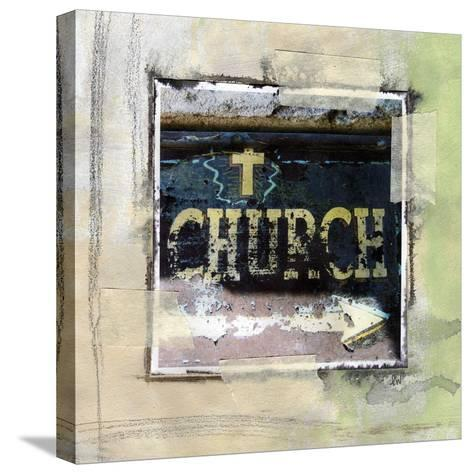 Church-Linda Woods-Stretched Canvas Print