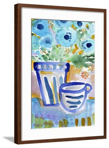 Tea and Flowers-Linda Woods-Framed Art Print