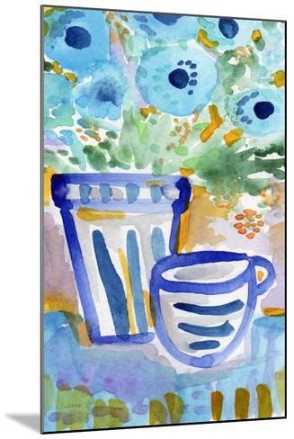 Tea and Flowers-Linda Woods-Mounted Art Print
