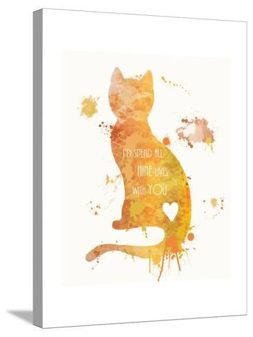 Cat Love-Anna Quach-Stretched Canvas Print