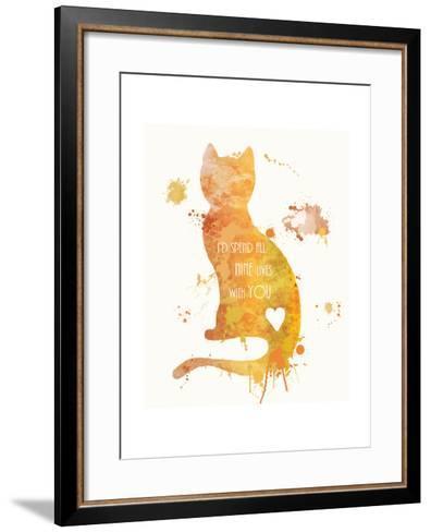 Cat Love-Anna Quach-Framed Art Print