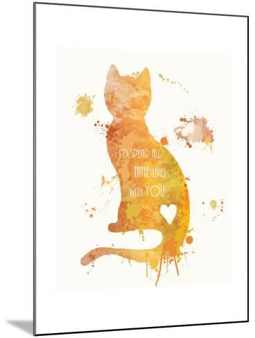 Cat Love-Anna Quach-Mounted Art Print