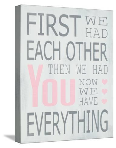 Then We Had You - Girl-Holly Stadler-Stretched Canvas Print