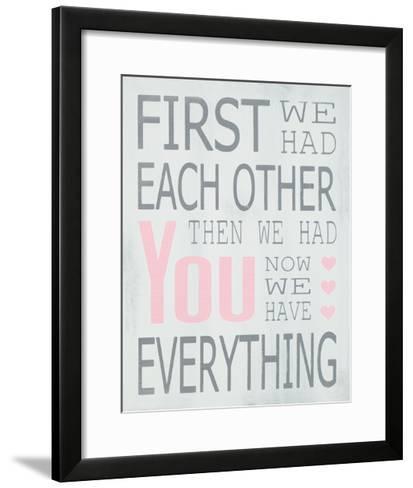 Then We Had You - Girl-Holly Stadler-Framed Art Print
