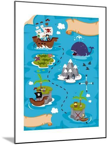 Treasure Map-lenm-Mounted Art Print
