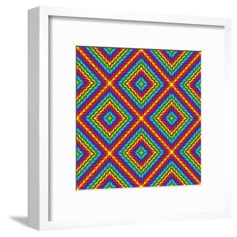 Pop Art Disco Pattern-Sangoiri-Framed Art Print