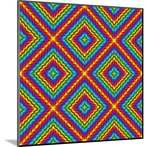 Pop Art Disco Pattern-Sangoiri-Mounted Art Print