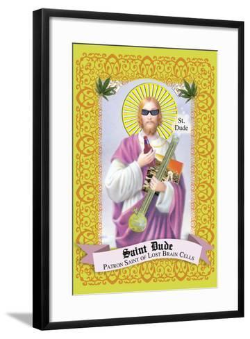 Saint Dude: Patron Saint Of Stoners-Noble Works-Framed Art Print