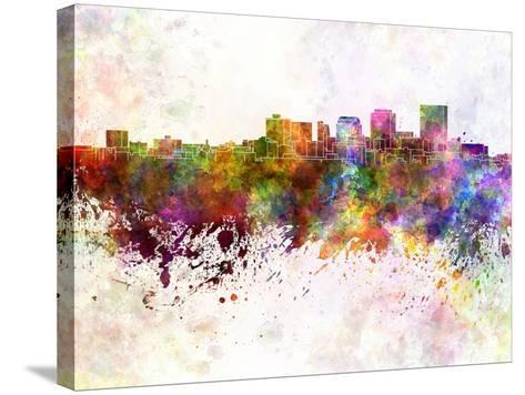 Dayton Skyline in Watercolor Background-paulrommer-Stretched Canvas Print