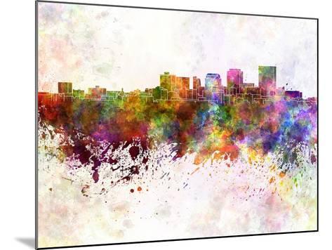 Dayton Skyline in Watercolor Background-paulrommer-Mounted Art Print