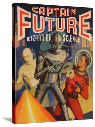Captain Future Wizard of Science Television Poster--Stretched Canvas Print