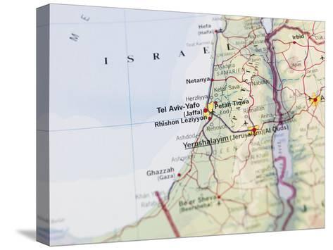 Map of Jerusalem-gemenacom-Stretched Canvas Print