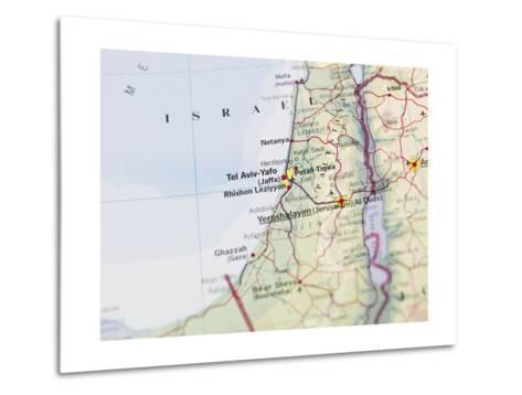 Map of Jerusalem-gemenacom-Metal Print