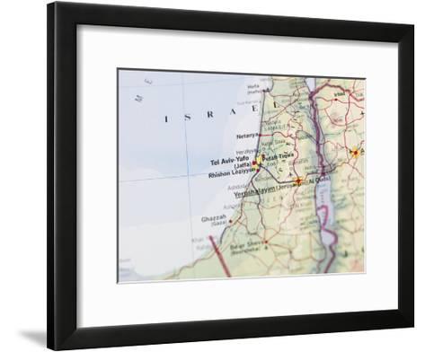 Map of Jerusalem-gemenacom-Framed Art Print