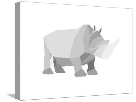 Rhino-Denny Stoekenbroek-Stretched Canvas Print