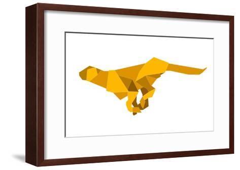 Origami Made Puma-Denny Stoekenbroek-Framed Art Print