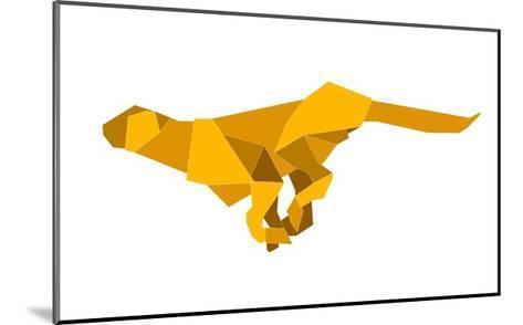 Origami Made Puma-Denny Stoekenbroek-Mounted Art Print