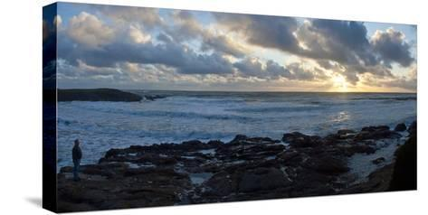 Sunset on Rugged California Coast-Anna Miller-Stretched Canvas Print