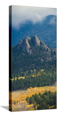 Rock Formations Along the Road Outside Estes Park, Rocky Mountains, Colorado,USA-Anna Miller-Stretched Canvas Print