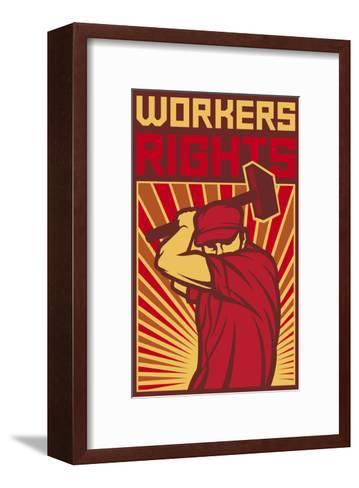 Workers Rights Poster-tribaliumbs-Framed Art Print