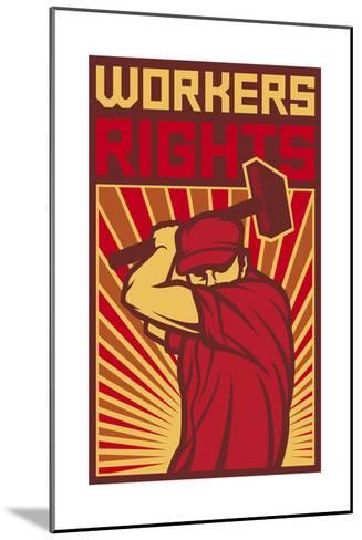 Workers Rights Poster-tribaliumbs-Mounted Art Print