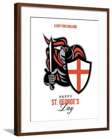 A Day for England Happy St George Greeting Card-patrimonio-Framed Art Print