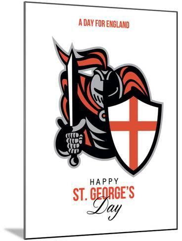 A Day for England Happy St George Greeting Card-patrimonio-Mounted Art Print